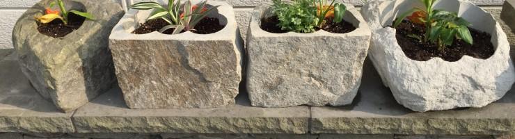 自然石プランター